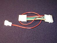 Various resistive-adapter cable 4-Pin 12V on 3-Pin 9.5V
