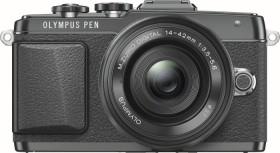 Olympus PEN E-PL7 schwarz mit Objektiv M.Zuiko digital 14-42mm EZ (V205073BE001)