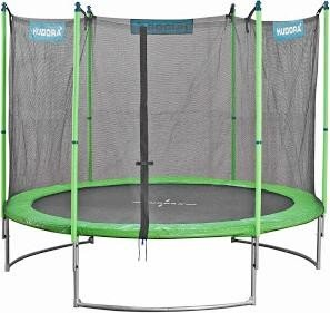 Hudora Family trampoline with safety net 300cm green (65630)