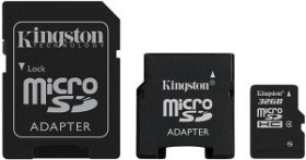 Kingston microSDHC 32GB Pack, Class 4 (SDC4/32GB-2ADP)
