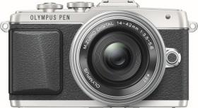 Olympus PEN E-PL7 silber mit Objektiv M.Zuiko digital 14-42mm EZ (V205073SE001)
