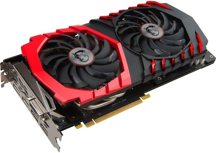 MSI GeForce GTX 1060 Gaming 6G, 6GB GDDR5, DVI, HDMI, 3x DP (V328-012R)