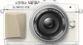 Olympus PEN E-PL7 weiß mit Objektiv M.Zuiko digital 14-42mm EZ (V205073WE001)