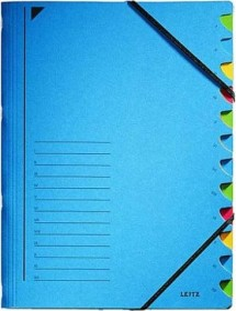 Leitz Ordnungsmappe A4, 12 Fächer, blau (39120035)