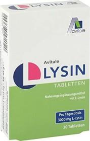 Avitale L-Lysin Tabletten, 30 Stück