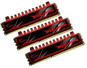 G.Skill RipJaws DIMM kit 12GB PC3-10667U CL9-9-9-24 (DDR3-1333) (F3-10666CL9T-12GBRL)