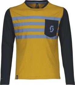 Scott Trail Dri Trikot langarm ochre yellow/nightfall blue (Junior) (270579-6140)