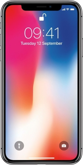 Apple iPhone X 256GB grau