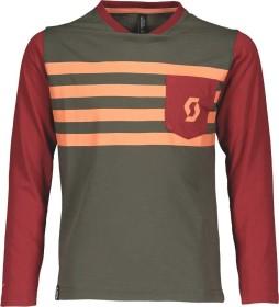 Scott Trail Dri Trikot langarm dark grey/merlot red (Junior) (270579-6137)