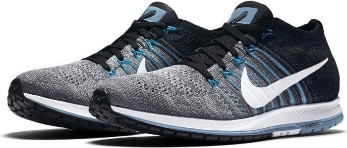 Nike zoom Flyknit Streak LE grey/black/blue (mens) (849655-004) -- ©keller-sports.de