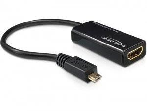 DeLOCK Konverter MHL auf HDMI + USB 2.0 A/micro-B (65314)