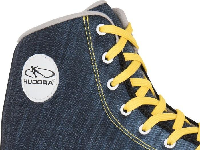 36 Disco-Roller Gr HUDORA Rollschuhe Roller-Skates Blue Denim 13010