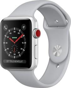 Apple Watch Series 3 (GPS + Cellular) Aluminium 42mm silber mit Sportarmband nebelgrau (MQKM2ZD/A)