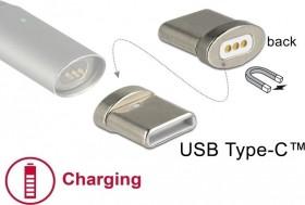 DeLOCK Magnetischer USB-C Stecker für DeLOCK USB Ladekabel, Adapterstecker (65930)