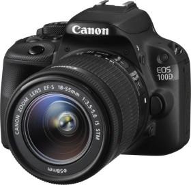 Canon EOS 100D schwarz mit Objektiv EF-S 18-55mm und EF 75-300mm (8576B096)