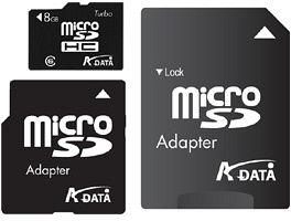 ADATA Turbo microSDHC 16GB Kit, Class 6 (AUSDH16GCL6-RA1)