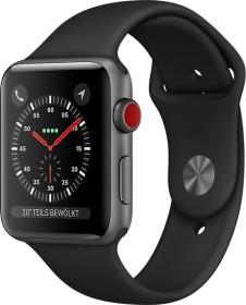 Apple Watch Series 3 (GPS + Cellular) Aluminium 42mm grau mit Sportarmband schwarz (MQKN2ZD/A)