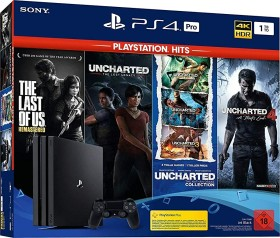 Sony PlayStation 4 Pro - 1TB PlayStation Hits Bundle schwarz