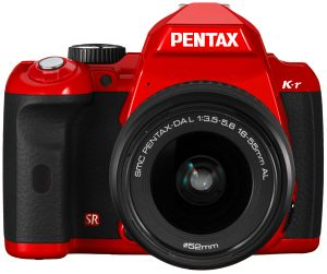 Pentax K-r red with lens DA L 18-55mm (14733)