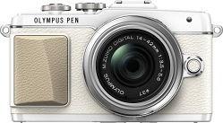 Olympus PEN E-PL7 weiß mit Objektiv M.Zuiko digital 14-42mm II R (V205071WE000)