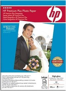 HP C6832A Premium Plus photo paper high gloss A4, 280g, 20 sheets