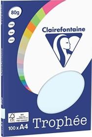 Clairefontaine Trophée Universalpapier hellblau A4, 80g/m², 100 Blatt (4101C)
