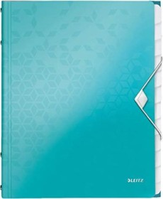 Leitz WOW Ordnungsmappe A4, 12 Fächer, eisblau metallic (46340051)
