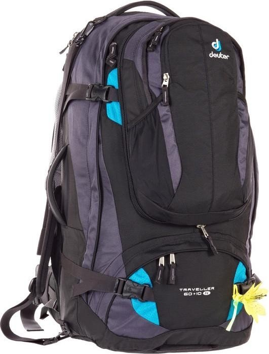 Deuter Damen Trekkingrucksack Traveller 60 plus 10 SL, Black