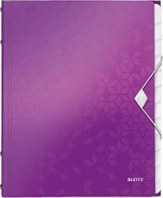 Leitz WOW Ordnungsmappe A4, 12 Fächer, violett metallic (46340062)