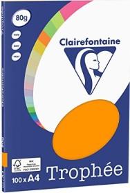 Clairefontaine Trophée Universalpapier orange A4, 80g/m², 100 Blatt (4110C)
