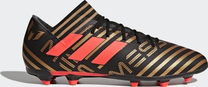 wholesale dealer 32b17 0795b adidas Nemeziz Messi 17.3 FG core black solar red tactile gold metallic (men