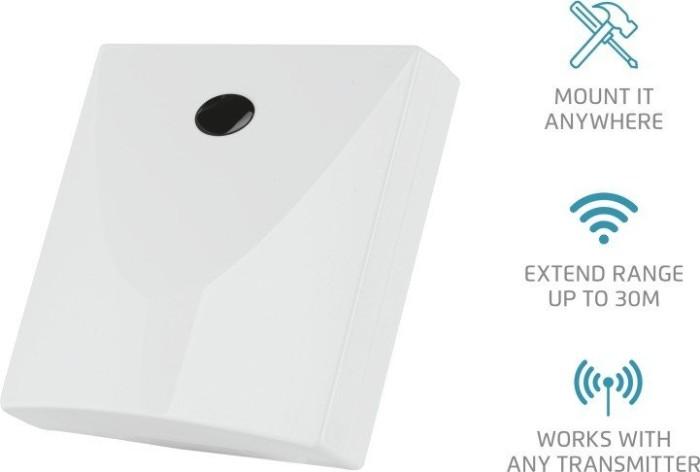 Trust Smart Home 433 Mhz Signalverst/ärker AEX-701 f/ür gr/ö/ßere Funkreichweite