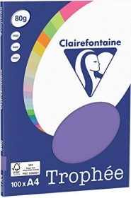 Clairefontaine Trophée Universalpapier violett A4, 80g/m², 100 Blatt (4116C)