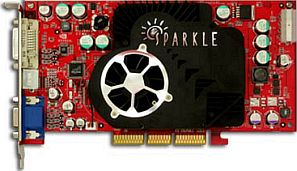Sparkle SP8835XT-DT, GeForceFX 5900XT, 128MB DDR. DVI, TV-out, AGP