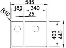 Blanco Claron 340/180-IF InFino basin right (521608)
