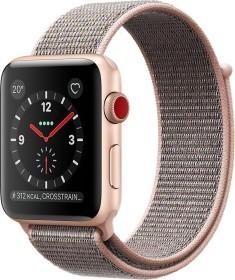 Apple Watch Series 3 (GPS + Cellular) Aluminium 42mm gold mit Sport Loop sandrosa (MQKT2ZD/A)