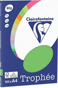 Clairefontaine Trophée Universalpapier maigrün A4, 80g/m², 100 Blatt (4115C)