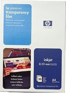 HP C3835A Premium Transparentfolie A4, 160g, 50 Blatt