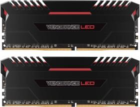 Corsair Vengeance LED rot DIMM Kit 32GB, DDR4-2666, CL16-18-18-35 (CMU32GX4M2A2666C16R)