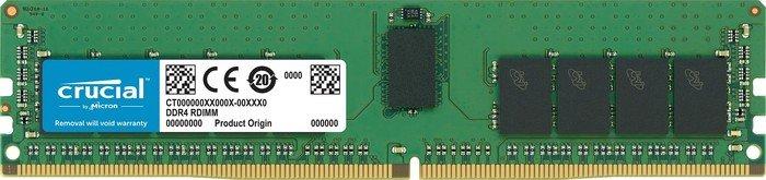 Crucial DIMM 16GB, DDR4-2933, CL21, reg ECC (CT16G4RFD8293)
