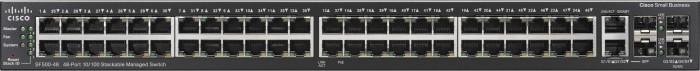 Cisco SF500 Rackmount Managed Stack Switch, 48x RJ-45, 2x RJ-45/SFP (SF500-48-K9-G5)