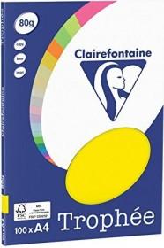Clairefontaine Trophée Universalpapier neongelb A4, 80g/m², 100 Blatt (4127C)