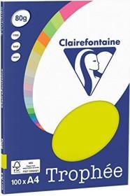 Clairefontaine Trophée Universalpapier neongrün A4, 80g/m², 100 Blatt (4128C)