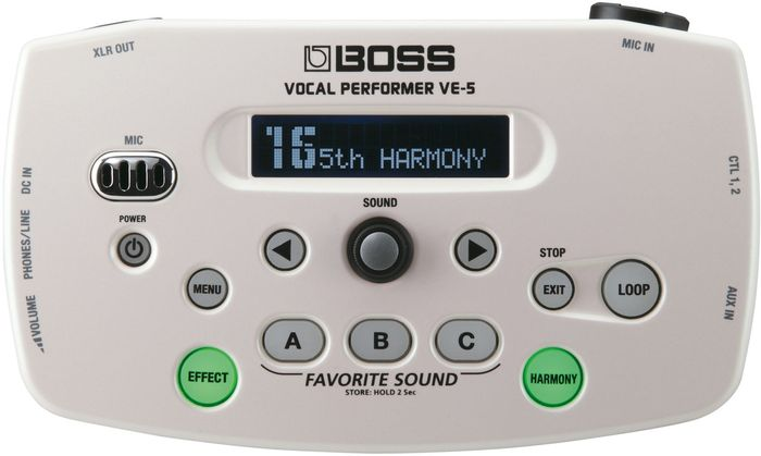Boss VE-5 Vocal Performer multi effects unit white