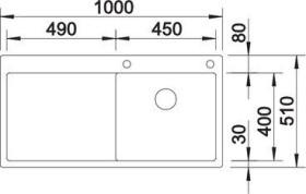 Blanco Claron 5 S-IF InFino basin right (521625)