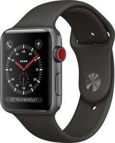 Apple Watch Series 3 (GPS) Aluminium 42mm grau mit Sportarmband grau (MR362ZD/A)