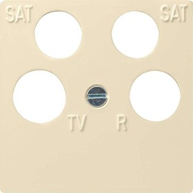 Gira System 55 Zentralplatte 4fach Antennensteckdose, cremeweiß (0259 01)