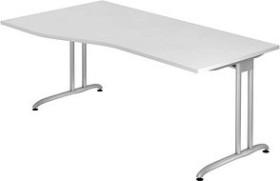 Hammerbacher Ergonomic B-Serie BS18/W, weiß, Schreibtisch