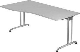 Hammerbacher Ergonomic B-Serie BS18/5, grau, Schreibtisch