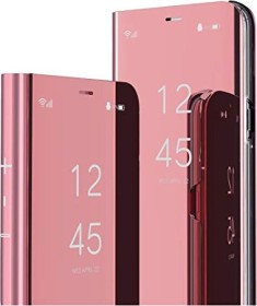 MRSTER Clear View Standing Cover für Xiaomi Redmi Note 9 rosa